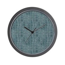Tile Grain Designer Pattern Wall Clock
