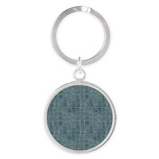 Tile Grain Designer Pattern Round Keychain