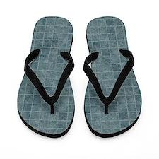 Tile Grain Designer Pattern Flip Flops