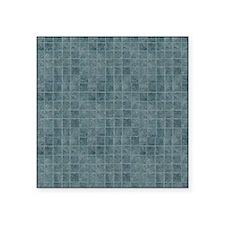 "Tile Grain Designer Pattern Square Sticker 3"" x 3"""