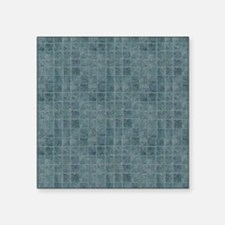 "Tile Grain Designer Pattern Square Sticker 3"" x 3"""