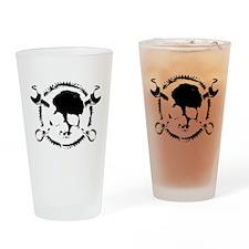 Wrench-Gear-Skull Drinking Glass
