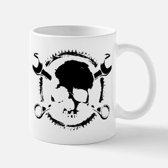 Wrench-Gear-Skull Mug