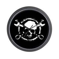 Wrench-Gear-Skull Wall Clock