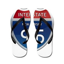 New Jersey Interstate 95 Flip Flops