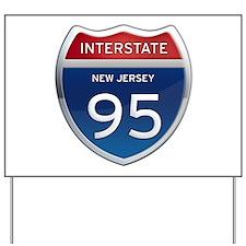 New Jersey Interstate 95 Yard Sign