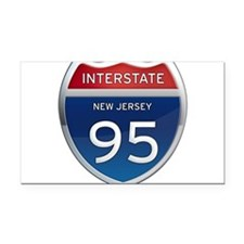 New Jersey Interstate 95 Rectangle Car Magnet