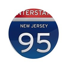 "New Jersey Interstate 95 3.5"" Button"