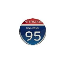 New Jersey Interstate 95 Mini Button