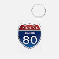 New Jersey Interstate 80 Keychains