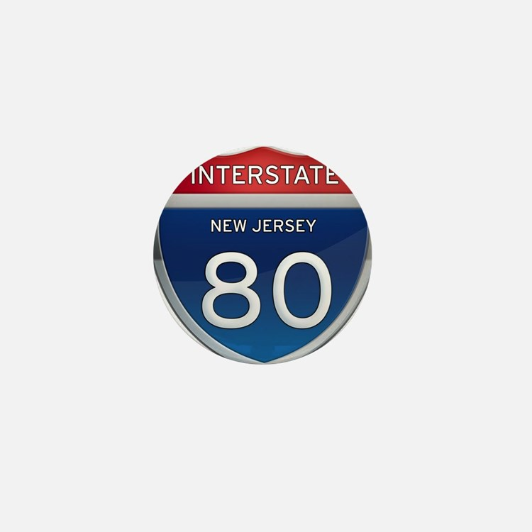 New Jersey Interstate 80 Mini Button