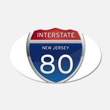 New Jersey Interstate 80 Wall Decal