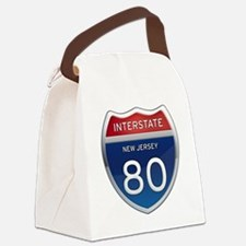 New Jersey Interstate 80 Canvas Lunch Bag
