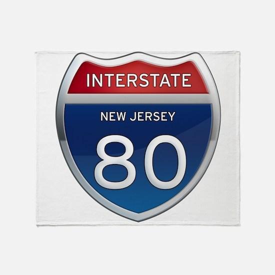 New Jersey Interstate 80 Throw Blanket