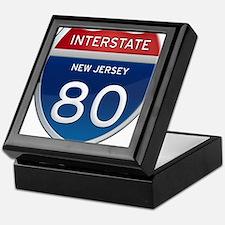 New Jersey Interstate 80 Keepsake Box