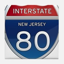 New Jersey Interstate 80 Tile Coaster