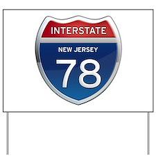 New Jersey Interstate 78 Yard Sign
