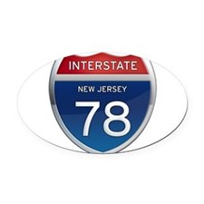 New Jersey Interstate 78 Oval Car Magnet