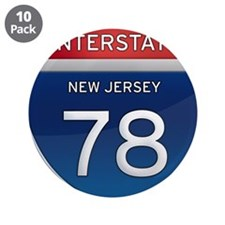 "New Jersey Interstate 78 3.5"" Button (10 pack)"