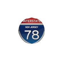 New Jersey Interstate 78 Mini Button
