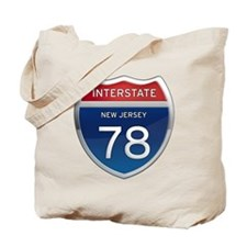 New Jersey Interstate 78 Tote Bag