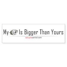 Bigger Turbo Than You (Bumper Sticker)