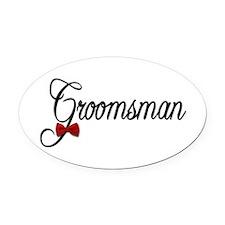 Groomsman Oval Car Magnet