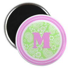 Lime Paisley Monogram-M Magnet
