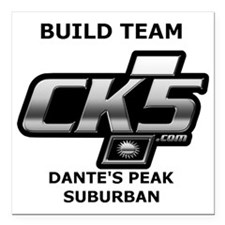 "Build team logo Square Car Magnet 3"" x 3"""