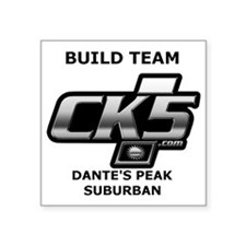 "Build team logo Square Sticker 3"" x 3"""