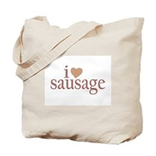 I Love Sausage Tote Bag