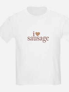 I Love Sausage Kids T-Shirt
