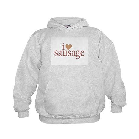 I Love Sausage Kids Hoodie