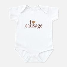 I Love Sausage Infant Bodysuit
