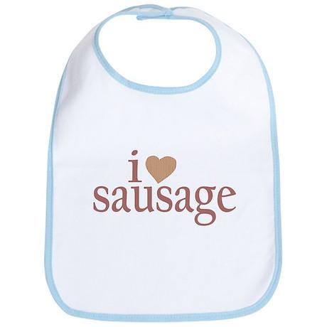 I Love Sausage Bib