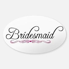 Bridesmaid Sticker (Oval)