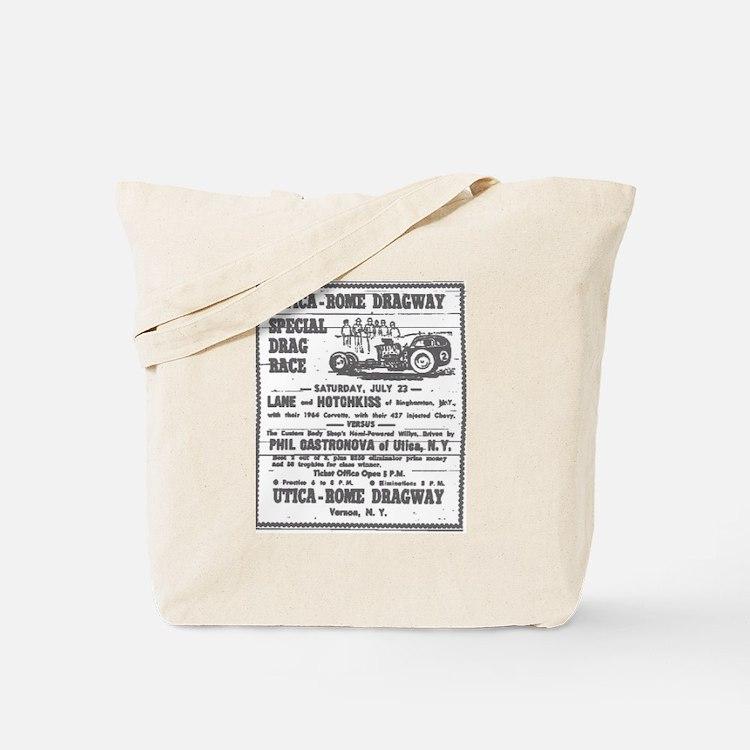 Utica Rome Dragway Ad Tote Bag