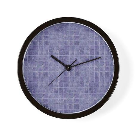 Purple Tiles Wall Clock