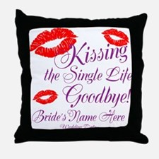 Custom Bachelorette Throw Pillow