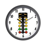 Drag racing Wall Clocks