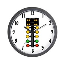 Drag Racing Christmas Tree Wall Clock