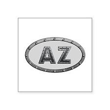 AZ Metal Square Sticker