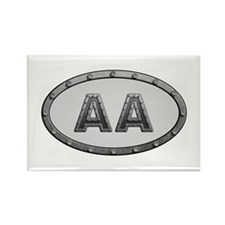 AA Metal Rectangle Magnet 10 Pack