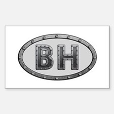 BH Metal Rectangle Decal