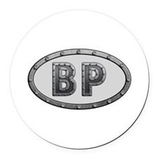 BP Metal Round Car Magnet