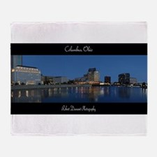 Columbus Ohio Skyline Throw Blanket