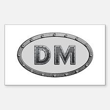 DM Metal Rectangle Decal
