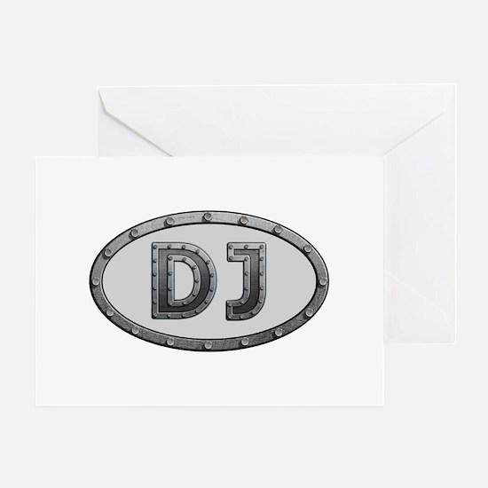 DJ Metal Greeting Card