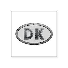 DK Metal Square Sticker
