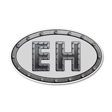 EH Metal Wall Decal